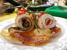 Involtini+di+pollo+con+zucchine+pomodoro+e+zenzero