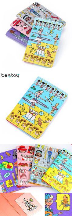[Visit to Buy] Bentoy Cute Women Travel Passport Cover Clutch Wallet Document Passport Holder Organizer Purse Men Business Card Holder ID #Advertisement