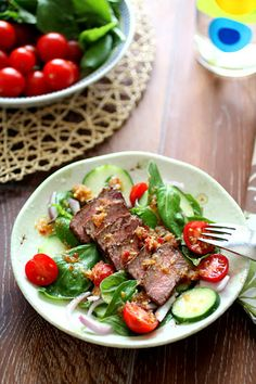 ... ago spicy grilled okay it s not so bad for a spicy basil beef salad