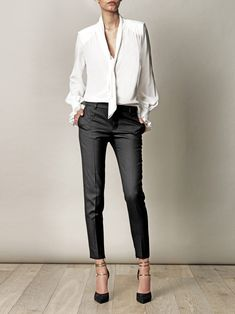 Business casual - LOVE this blouse.    Ok , this is evening wear for me, but I love it!