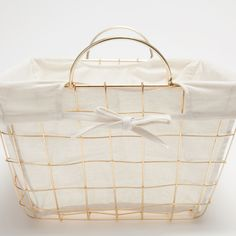 Image 5 of the product Golden rectangular metallic basket