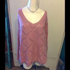 Pretty Pink Sweater Very Pretty Pink Sweater Jessica London Sweaters V-Necks