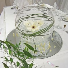 Elegant fish bowl #wedding centerpiece