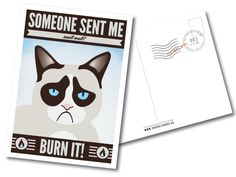 The 100 Postcards Project Postcard Design, Post Card, Grumpy Cat, Canada, Graphic Design, Cats, Projects, Gatos, Grumpy Cats