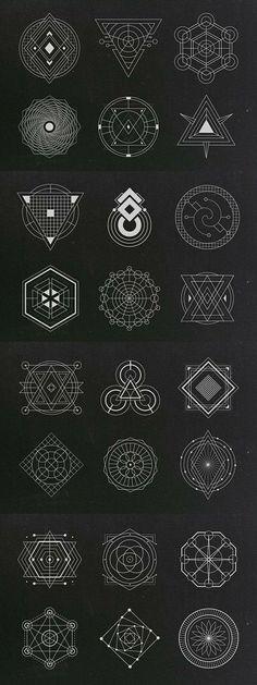 Fantastic in 2019 Sacred Geometry Symbols, Geometric Symbols, Geometric Designs, Geometric Drawing, Geometric Art, Magic Symbols, Geometry Tattoo, 3d Fantasy, Magic Circle