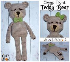 Sleep Tight Teddy Bear Blanket Pattern Crochet Pattern