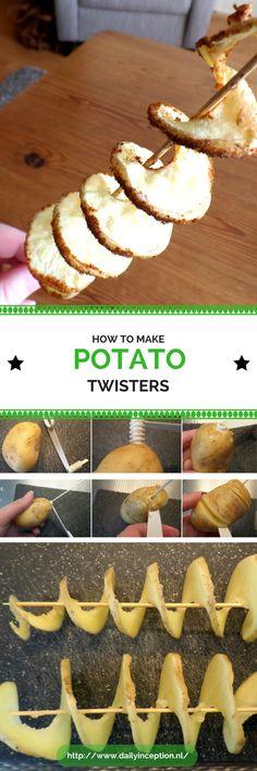 Een leuk recept om zelf thuis aardappel twisters te maken. Recipe/blog is written in Dutch. A easy tool to make Potato Twisters at home. Ofcourse it is a glutenfree recipe