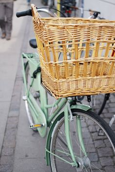 I want a girly comfy bike like Europeans tool around on with a basket to buy flowers or shop.