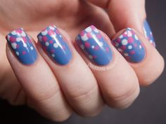 Blue and pink gradient dots (  Tutorial)