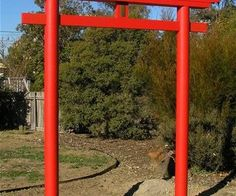 Construct a Japanese Torii Gate for Your Garden or SCA encampment.