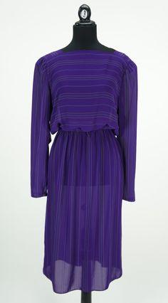 Vintage 1980s Purple Striped Alison Peterson by CeeLostInTime