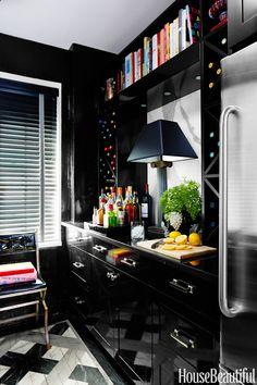 Wine rack +cookbooks+bar