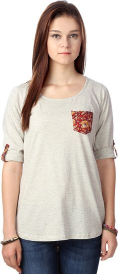 #BuyFromLink --> http://fkrt.it/PfIGouuuuN #Casual #3/4Sleeve #Printed #Women's #White #Top #Indianfashion #Women'sFashion #Gorgeous #look #style #Shop #Buy #online #india