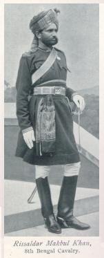 Risaldar Makbul Khan 8th Bengal Cavalry 1897 Jubilee