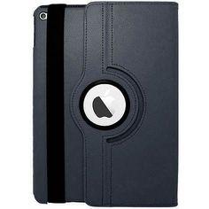 EGC Leather 360-degree Rotating Stand iPad Air 2 Case - Dark Blue