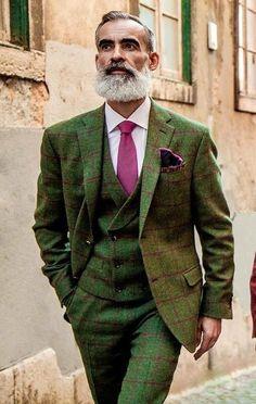 Afbeeldingsresultaat voor tweed beard suit