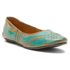 neat distressed wing-tip inspired ballet flat by bed:Stu Tap found at #OnlineShoes