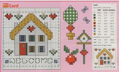Schema punto croce Welcome Card2