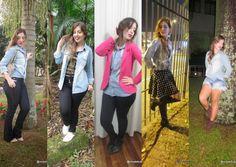 Vivy Duarte: 1 Peça 5 Looks: Camisa Jeans