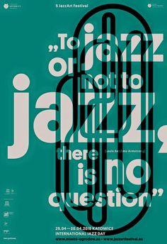 Marta Gawin, poster for Katowice Jazz Art Festival, 2016
