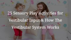Vestibular input activities can provide some of the best stimulation for active sensory seeking kids which can keep their sensory needs met for hours. Vestibular Activities, Proprioceptive Input, Vestibular System, Emotional Regulation, Self Regulation, Hanging Upside Down, Sensory Integration, Stress Causes, Autistic Children