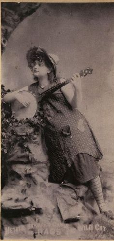 country girl with banjo