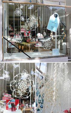 Sarah Parkes of Smalltown — The Design Files Macrame Design, Macrame Art, Macrame Knots, Macrame Plant Holder, Plant Holders, Bay Window Dressing, Store Window Displays, Yarn Thread, The Design Files