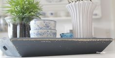 GreenGate Danishdesign danskdesign tray biancadustyblue dusty dustyblue bianca Havetssus