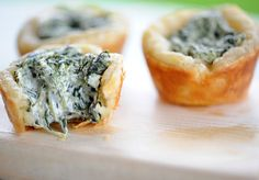 Click Pic for  50 St Patricks Day Food Ideas - Zestuous Spinach Cups | St Patricks Day Recipes