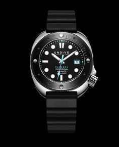After nearly two years of research UNDIVE releases the Dark Sea 500m diver watch. Inspired by the Seiko dive watches from the 1970s featuring a 45mm wide case.