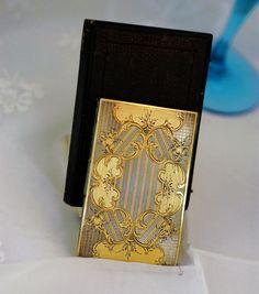 Dance Cards - Carnet de Bal - Ballspende 6K+French Silver Gold Plate Vermeil Carnet de Bal