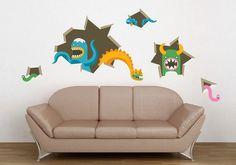 Wall Graphics by Zeptonn, via Behance Creative Walls, Creative Art, Interior Inspiration, Design Inspiration, Web Design, Office Decor, Painting, Wall Art, Wallpaper