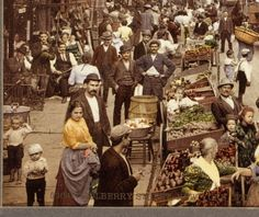 STREET LIFE: Market at the Five Points, New York City, 1900