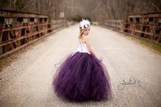 Robe de fille de fleur prune... Corset jupe par HippityHootNotion