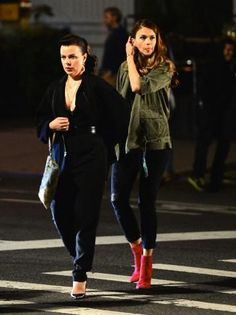 Debi Mazar and Sutton Foster filming in NYC. From the creator of Sex and The City, 'Younger' stars Sutton Foster, Hilary Duff, Debi Mazar, Miriam Shor and Nico Tortorella. Discover full episodes at  http://www.tvland.com/shows/younger.