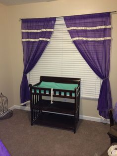 DIY window treatments and changing pad cover