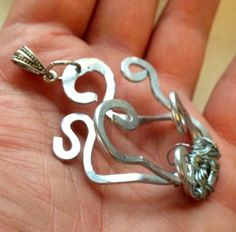 Medusa Inspired Wirewrapped Pendant Silver by Eldwenne on Etsy, $19.33