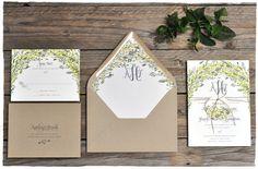 Arbor Love Wedding Invitations | Green & Rustic | Smitten On Paper