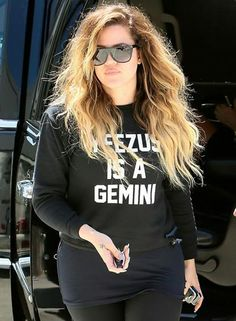Khloe Kardashian's Ombre Hair | 18 Inch Double Wefted Ombre Extensions | £69.99 | Free Delivery Worldwide | Available at: http://www.cliphair.co.uk/18-Inch-Double-Weft-Dip-Dye-Hair-Extensions-T4-27.html