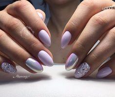 Маникюр | Ногти Lavender Nails, Stylish Nails, Manicure And Pedicure, Beauty Nails, Fun Nails, Beauty Women, Nail Designs, Nail Art, My Favorite Things
