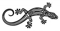 Cute Lizard Tattoo Design In Tribal Style