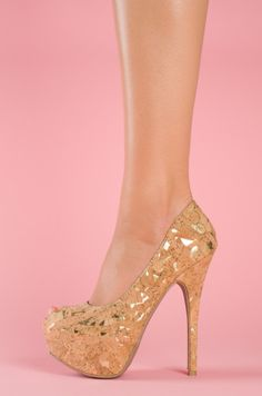 CorkyBusiness(gold)》lolashoetique ♡♡♡ #heels
