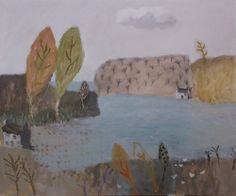 popgoesred:  David Pearce Sedge Grass And Sandpipers Mixed Medium on Canvas 100x120cm