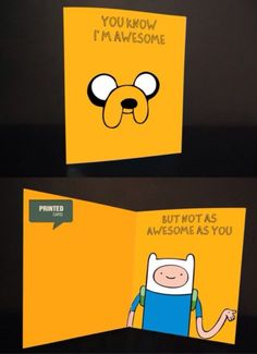 Adventure time (printed card) $6 by nyanny on etsy