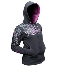 Speed and Strength Women's Cat Out'a Hell Hoody - Black/Purple
