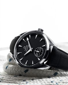 OMEGA Watches: Seamaster Aqua Terra XXL Small Seconds - Steel on leather strap - 231.13.49.10.06.001
