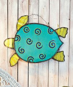 Beach-Themed Metal Wall Hangings The Lakeside Collection