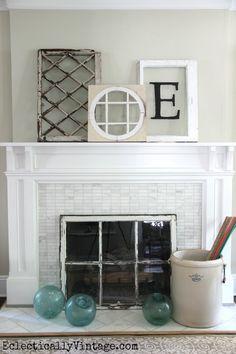 summer-mantel-antique-windows.jpg 640×960 pixels