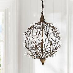 Romantic Sphere Chandelier #pbteen