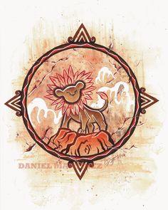 I Just Can't Wait to Be King - Simba, Ikanana illustrations on ArtStation at https://www.artstation.com/artwork/2kAPK